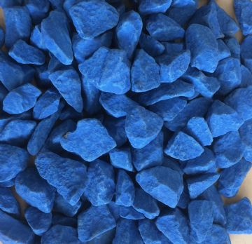 Decorative COLOURED Stones Pebbles Gravels LARGE - AZURA BLUE